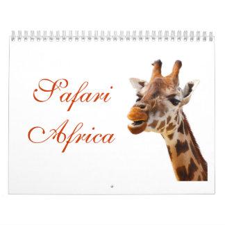 Animales africanos del destino de la selva del calendarios