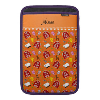 Animales anaranjados conocidos personalizados del funda  MacBook