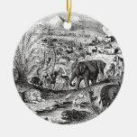 Animales animales africanos del ejemplo de los 180 ornamentos de navidad