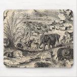 Animales animales africanos del ejemplo de los 180 alfombrillas de raton