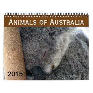 animales australianos 2015 calendarios