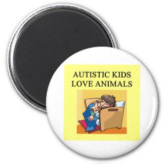 animales autísticos del amor de los niños imán redondo 5 cm