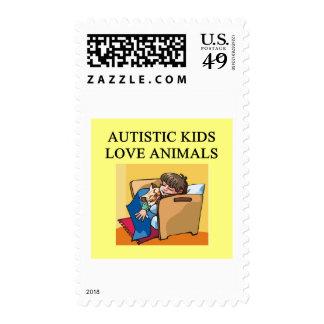 animales autísticos del amor de los niños sello
