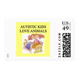 animales autísticos del kove de los niños sello