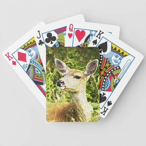 Animales ciervos, alces, paquete del bosque de la baraja de cartas bicycle