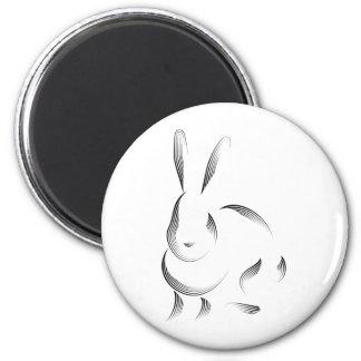 Animales - conejo imán redondo 5 cm
