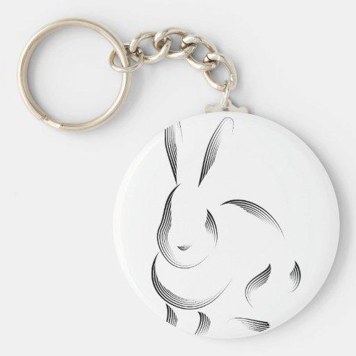 Animales - conejo llavero redondo tipo pin