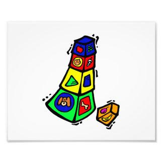 animales cuadrados gráficos del juguete del bloque fotografías