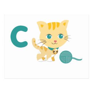 Animales de ABC - gato de Carrie Postales
