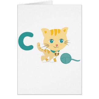 Animales de ABC - gato de Carrie Tarjeta De Felicitación
