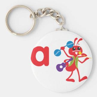 Animales de ABC - hormiga de Adán Llavero Redondo Tipo Pin