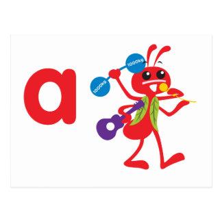 Animales de ABC - hormiga de Adán Postales