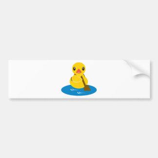 Animales de ABC - pato de la paleta Pegatina De Parachoque
