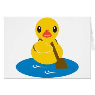 Animales de ABC - pato de la paleta Tarjeta