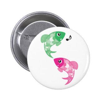 Animales de ABC - pescados de Figaro y de Finzy Pin Redondo De 2 Pulgadas