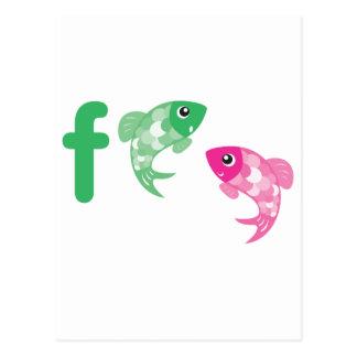 Animales de ABC - pescados Postales
