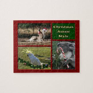 Animales de Aussie de las Felices Navidad Rompecabezas Con Fotos