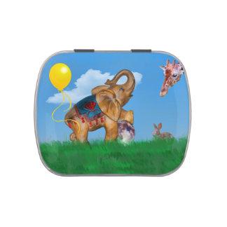 Animales de la fantasía con el elefante jarrones de dulces