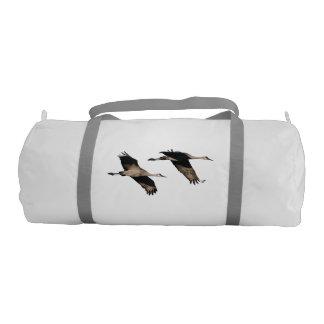 Animales de la fauna de los pájaros de la grúa de bolsa de deporte