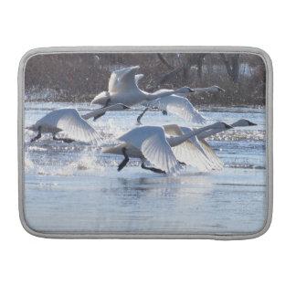 Animales de la fauna de los pájaros del cisne de fundas para macbook pro
