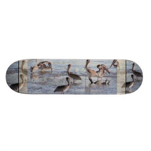 Animales de la fauna de los pájaros del pelícano patines personalizados