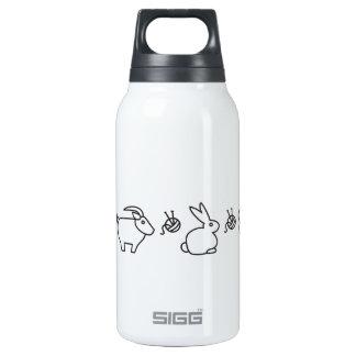 Animales de la fibra botella isotérmica de agua