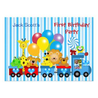 Animales de la foto del tren del primer cumpleaños anuncios personalizados