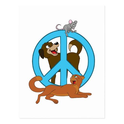 Animales de la paz postal