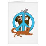 Animales de la paz tarjeton