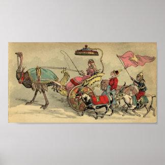 Animales de la procesión del circo póster