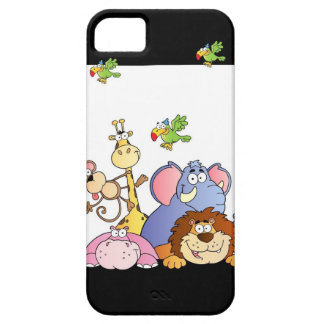 Animales de la selva iPhone 5 Case-Mate protectores