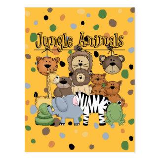 Animales de la selva postal