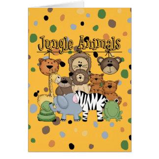 Animales de la selva tarjeta de felicitación