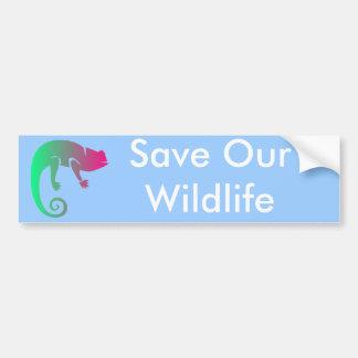 Animales de la selva tropical pegatina de parachoque