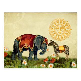 Animales de la tarjeta del día de San Valentín del