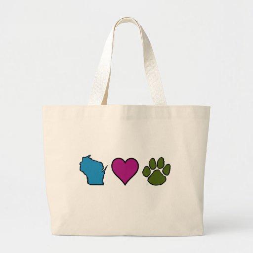 Animales de los corazones de Wisconsin Bolsa
