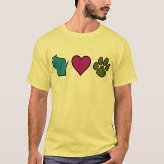 Animales de los corazones de Wisconsin Playera