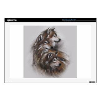animales de los lobos del lobo, fauna, arte de la 43,2cm portátil calcomanía