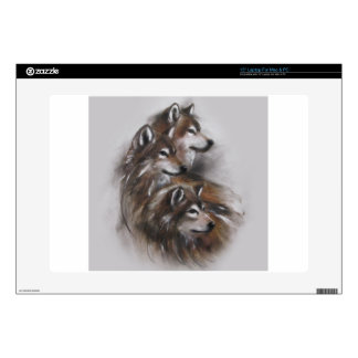 animales de los lobos del lobo, fauna, arte de la calcomanía para 38,1cm portátil