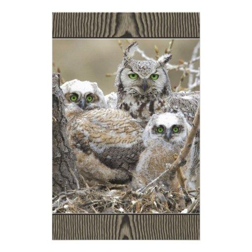 Animales de los pájaros de la naturaleza de la fam papeleria de diseño