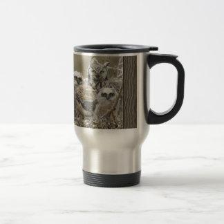 Animales de los pájaros de la naturaleza de la fam taza de café