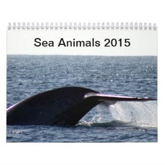 Animales de mar 2015 calendario