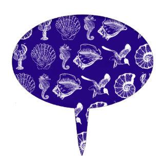 Animales de mar náuticos figura de tarta