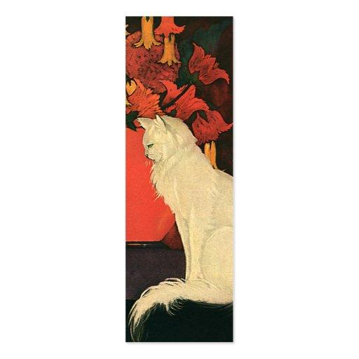 Animales de mascota del vintage, retrato blanco el tarjetas de visita