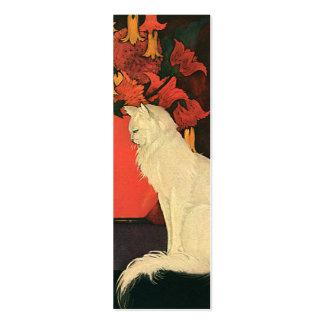 Animales de mascota del vintage, retrato blanco tarjetas de visita mini