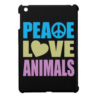 Animales del amor de la paz iPad mini protector