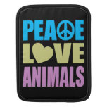 Animales del amor de la paz fundas para iPads