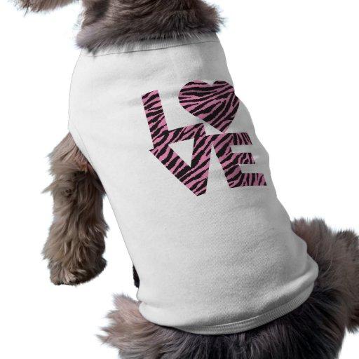 Animales del amor camiseta de perro