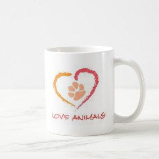 Animales del amor taza