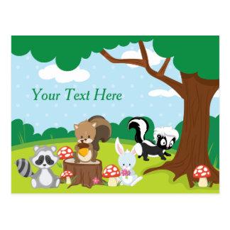 Animales del arbolado el | personalizado postal